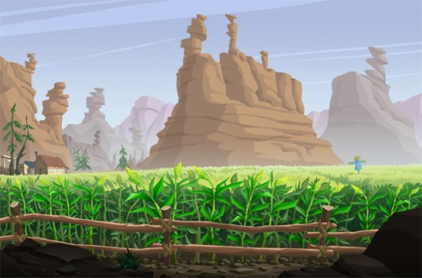 The Creepy Cowboy of Cactus Gulch - Wade Whiskers' cornfield