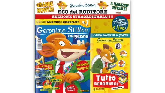 Geronimo stilton comic magazine and sticker album